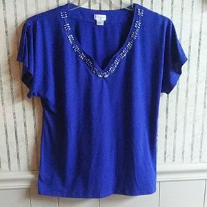 Jaclyn Smith Short Sleeve Top